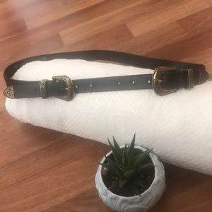 Topshop western style double buckle belt